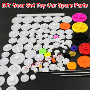 Plastic Motor Gear Kit Set Wheel shaft axles belts worm rack For Diy Car Robot