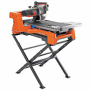 Husqvarn Cast Aluminum Rubber Top Masonry Saw wet Cut elctrc 10 In Blade Ts60
