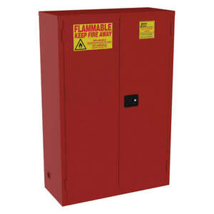 Jamco Galvanized Steel Cabinet 2 dr 72 Gal flammable 18x65x43 Bn72rp Red