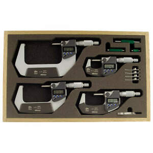 Mitutoyo Micrometer Set 0 4in 0 00005in 4pc 293 961 30