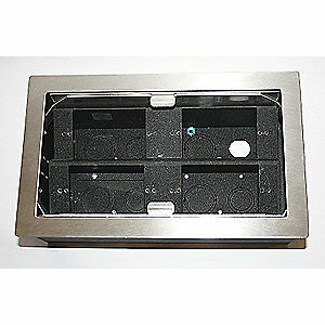 Hubbell Wiring Devic Stainless Steel Electrical Box 4 Gang ss Hblpha4bss Black
