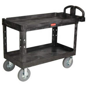 Rubbermaid Utility Cart 750 Lb Load Cap Fg454610bla