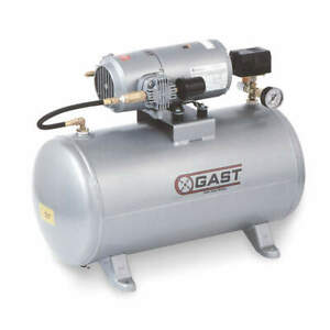 Gast Electric Air Compressor tank Mounted 3hbb 69t m300ax