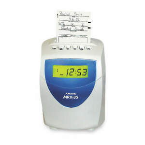 Amano Time Clock digital lcd Mrx 35 a140