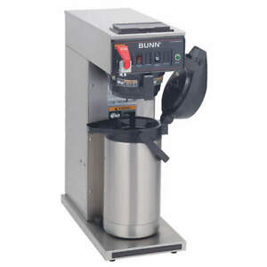 Bunn Single Airpot Coffee Brewer 3 8 Gal hr Cwtf Airpot Stainless Steel