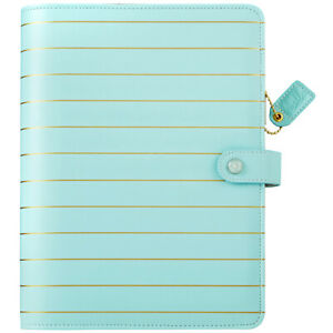 Webster s Pages Color Crush A5 Faux Leather Planner Kit 7 5 x10 blue W gold Str