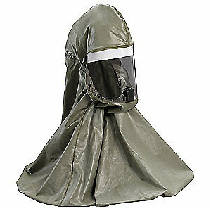 3m Butyl Rubber Respirator Hood regular olive Be 10br Olive