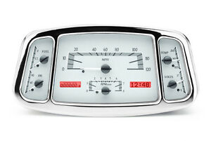 Dakota Digital 33 34 Ford Car Analog Gauges System Silver Alloy Red Vhx 33f S R