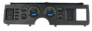 Dakota Digital 79 86 Ford Mustang Analog Gauge System Black Blue Vhx 79f mus k b