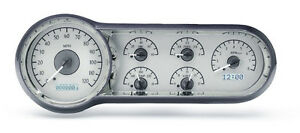 Dakota Digital 53 54 Chevy Car Analog Gauges Kit Silver Alloy White Vhx 53c S W