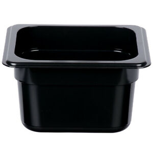 12 Pack 1 6 Size Black Plastic Steam Prep Table Food Pan 4 Deep Polycarbonate