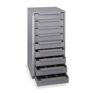 Durham Steel Storage Cabinet 12 5 8 In W 9 Drawers 611 95 Gray