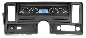 Dakota Digital 69 76 Chevy Nova Analog Gauge System Black Blue Vhx 69c nov k b