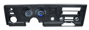 Dakota Digital 69 Pontiac Firebird Analog Gauge Kit Carbon Blue Vhx 69p fir c b