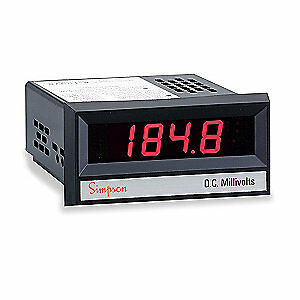 Simpson Electric Digital Panel Meter dc Voltage 24503