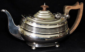 Coffee Teaset 5pc Sheffield Silverplate Maple Co London Neoclassical C1845