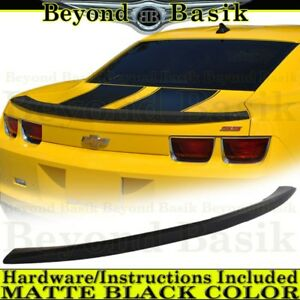 Matte Black 2010 2011 2012 2013 Chevy Camaro Spoiler Factory Style Rear Wing