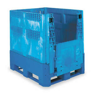 Buckhorn Collapsible Container 48x40 In blue Bg4840460263000 Blue