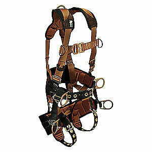 Falltech Tower Climb Full Body Harness Ctech 6d m G7084m Brown