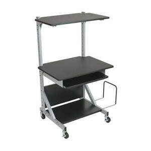 Balt Laminated Mdf metal Computer Workstation 5 Shelf black 42551 Black