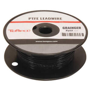 Tempco High Temp Lead Wire 16 Ga black Ldwr 1077