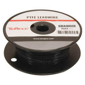 Tempco High Temp Lead Wire 18 Ga black Ldwr 1078