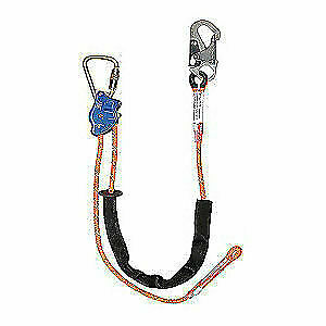 Falltech Adjustable Positioning Lanyard snap Hook G8165b10 Orange