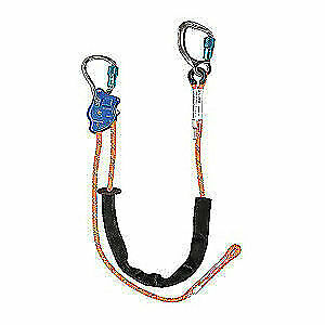Falltech Adjustable Positioning Lanyard carabiner G8165e10 Orange