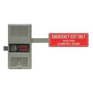 Detex Rim Exit Device With Alarm ecl 230 9v Ecl 230d W cyl