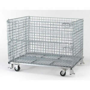 Nashvil Steel Wire Mesh Collapsible Container 48 In W silver C404830s4c Silver