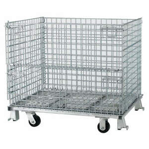 Nashvil Steel Wire Mesh Collapsible Container 32 In L silver C324028s4c Silver