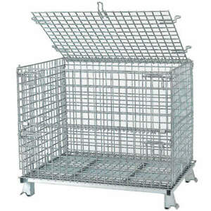 Nashvil Steel Wire Mesh Collapsible Container 32 In L silver C324028s4l Silver