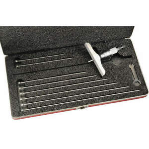 Starrett Depth Micrometer 0 9 In 4 In Base 445bz 9rl