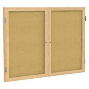 Ghent Enclosed Bulletin Board cork 36x48 In Pw23648k