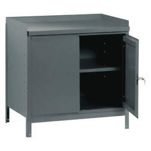 Edsal Cabinet Workbench steel 36 W 24 D 59243 Gray