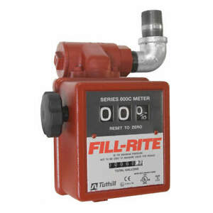 Fill rite Flowmeter 50 Psi 20 Gpm 1 In mechanical 806c