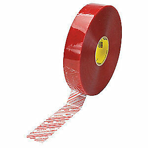 Scotch Carton Tape red On Clear 48mmx914m pk6 46448