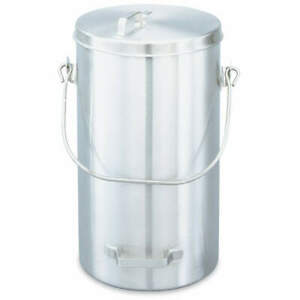 Vollrath Stainless Steel Covered Ice Cream Pail 20 Qt 59200 Silver
