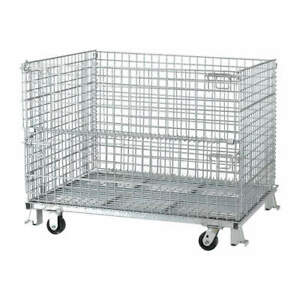 Nashvil Steel Wire Mesh Collapsible Container 48 In W silver C404836s4c Silver