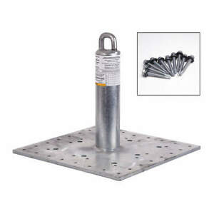 Guardian Galvanized Steel Roof Anchor 420 Lb metal 00645 m Silver