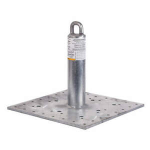 Guardian Galvanized Steel Roof Anchor 420 Lb concrete 00645 c Silver
