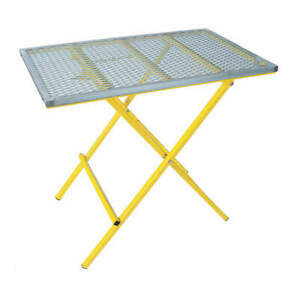 Sumner Portable Welding Table 40x24 600 Lb Cap 783980 Yellow