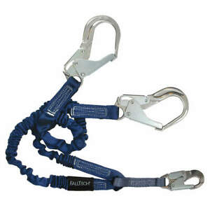Falltech Shock absorbing Lanyard 4 To 6 Ft 310 Lb G8240y3a Blue