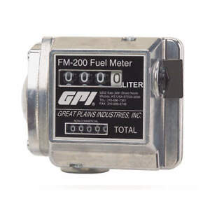 Gpi Flowmeter mechanical 1 In 4 To 20 Gpm Fm 200 g8n