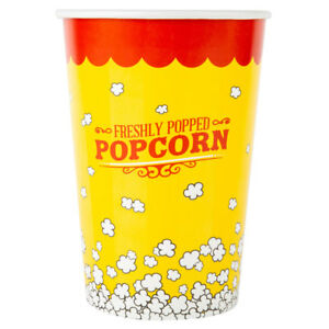 46 Oz Round Paper Movie Theatre Concession Popcorn Cup 500 Case