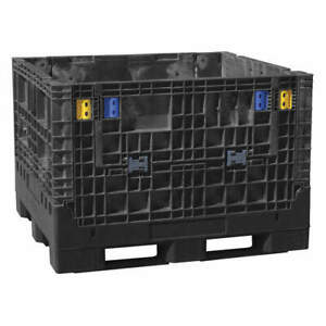 Buckhorn Collapsible Bulk Container 48inlx 45in w Bn4845412010000 Black