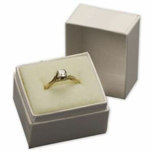 White Krome Ring Size Jewelry Boxes 1 1 2 X 1 1 4 X 1 1 2