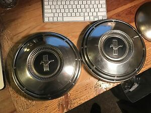 1968 1969 Mustang Fastback Coupe Cj Scj Convertible Orig Dog Dish Wheel Hub Caps