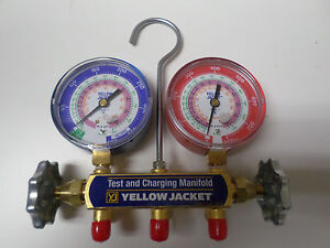 Yellow Jacket Test And Charging Manifold 42001 gauges Only New