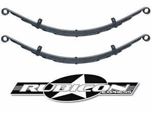 Rubicon Express Soa Extreme Duty Front Leaf Springs 1 5 For 87 95 Jeep Wrangler
